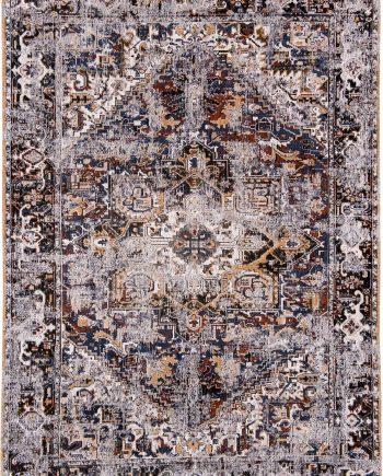 rugs Louis De Poortere CA 8707 Antiquarian Antique Heriz Divan Blue